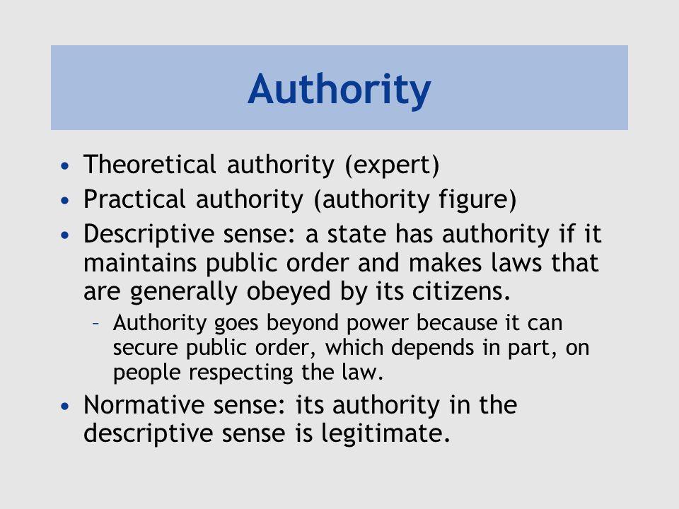 Authority Theoretical authority (expert)