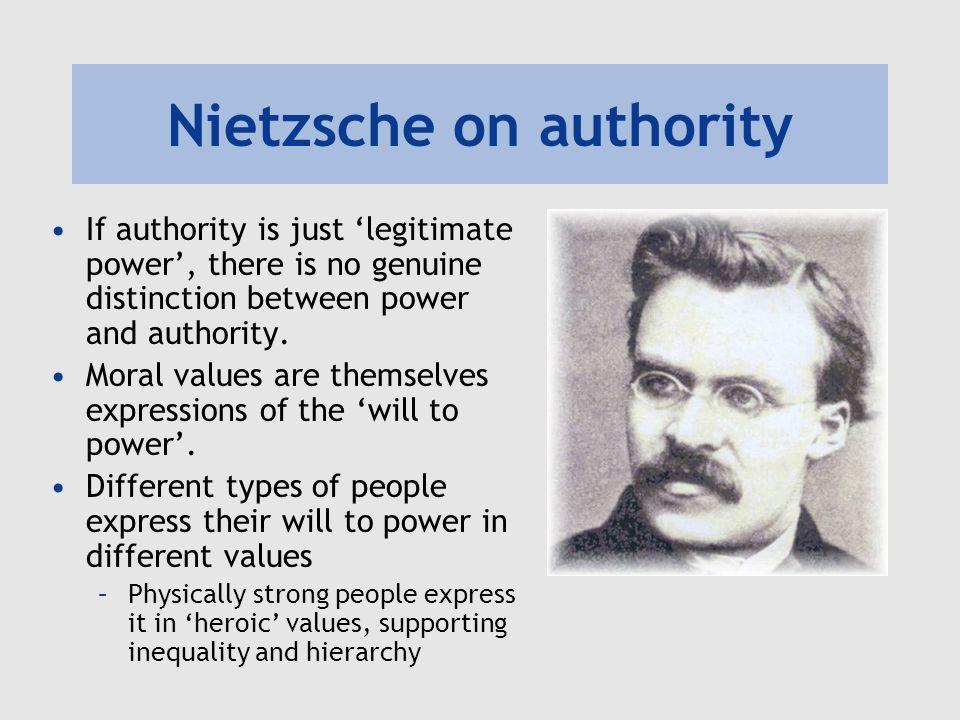 Nietzsche on authority