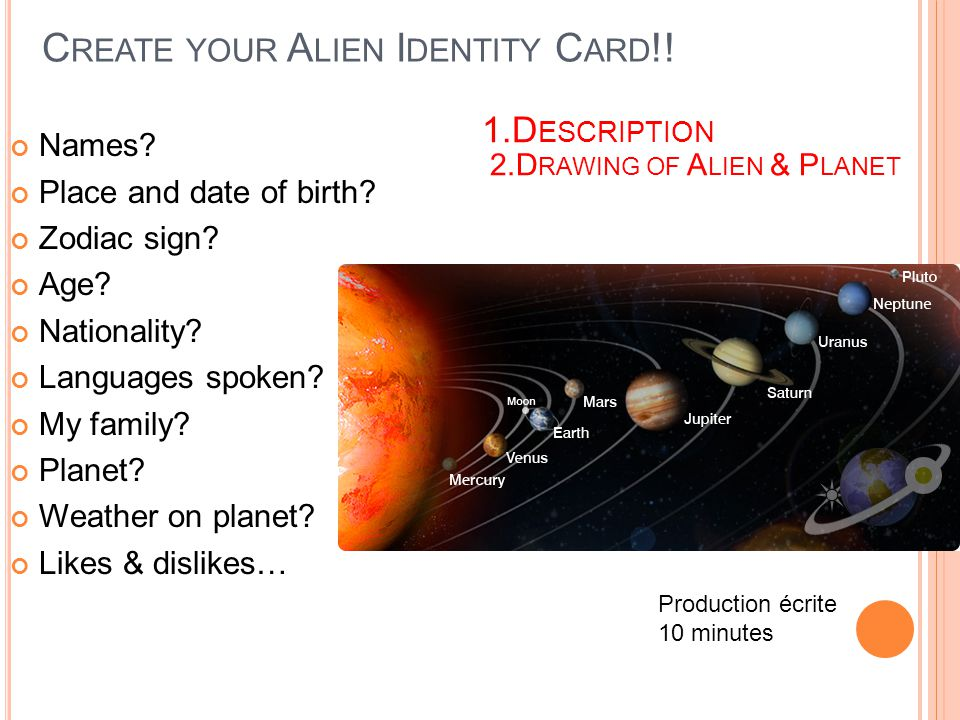 Create your Alien Identity Card!!
