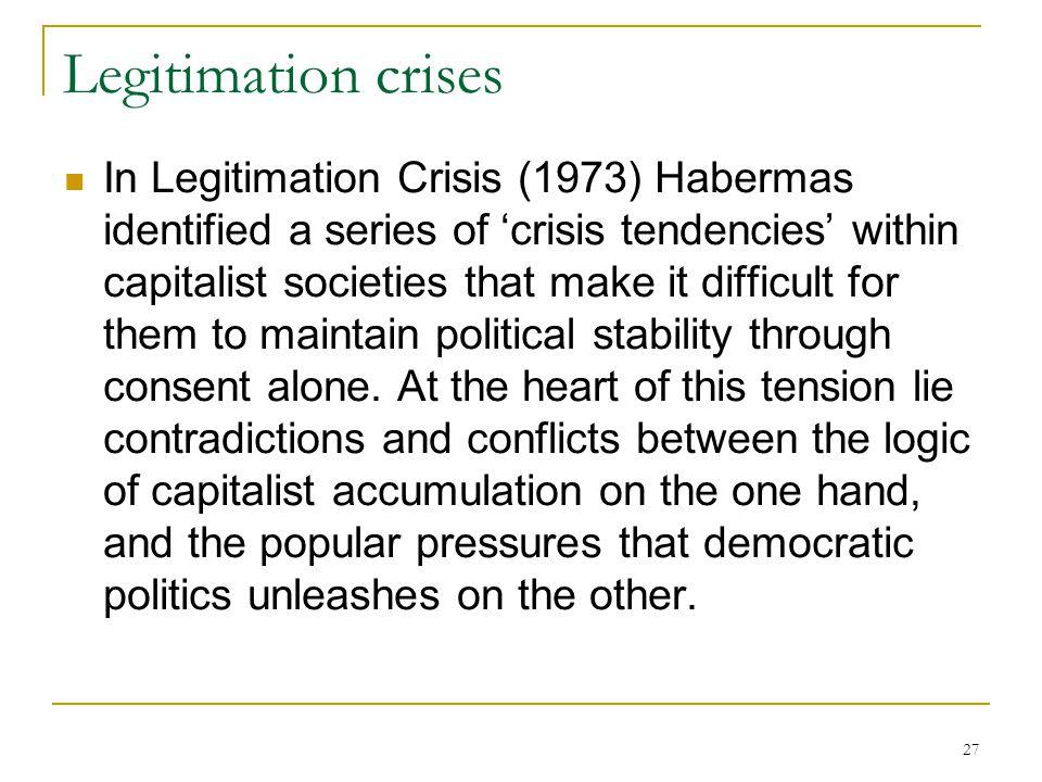 Legitimation crises