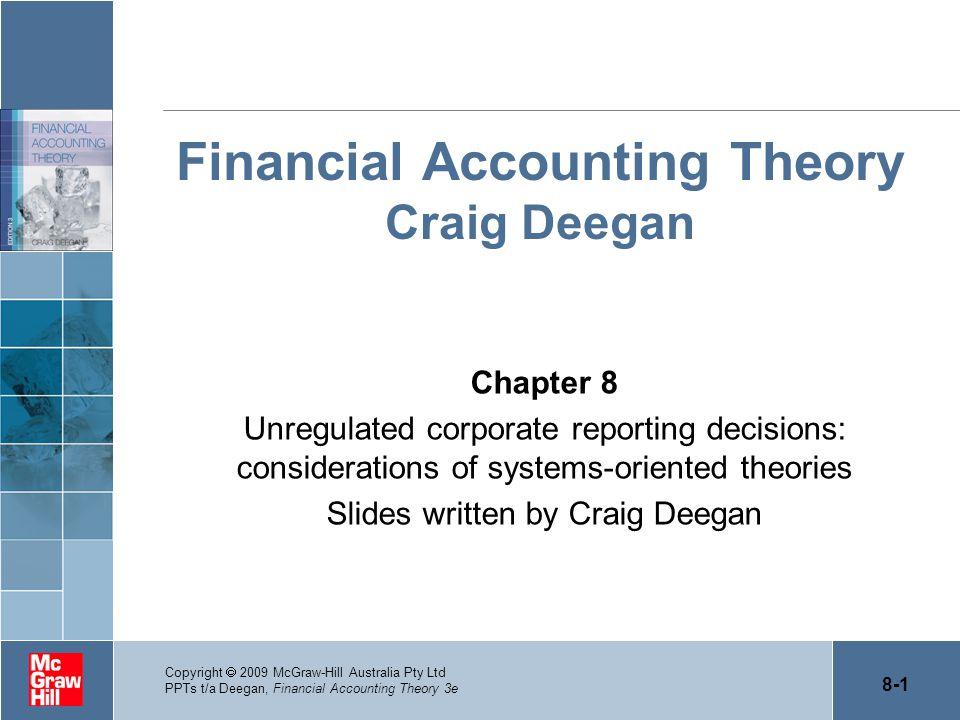 Financial Accounting Theory Craig Deegan