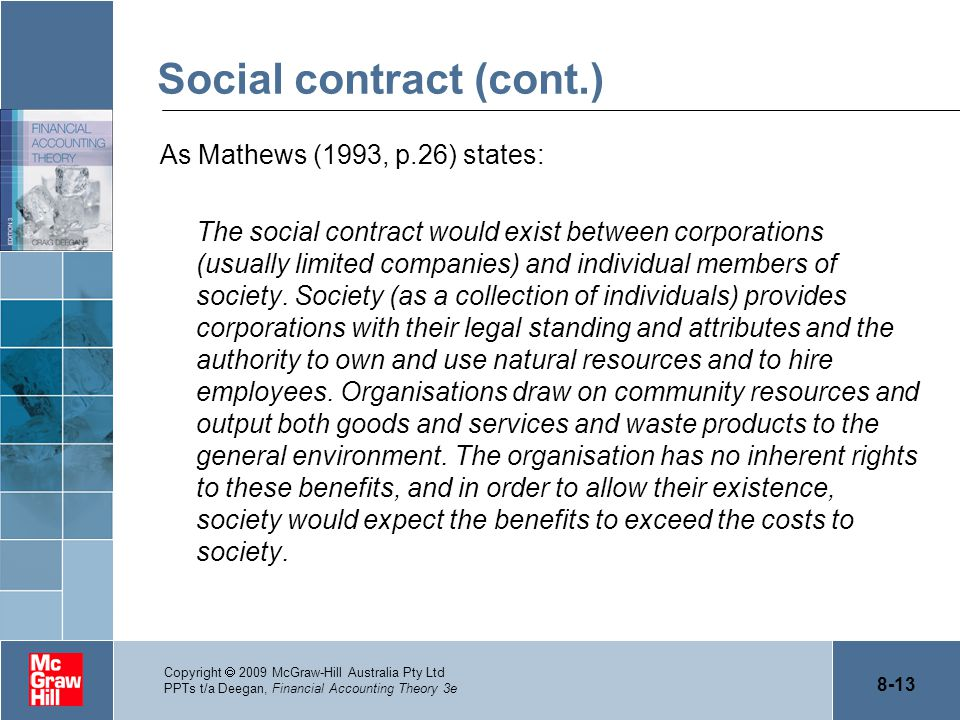 Social contract (cont.)