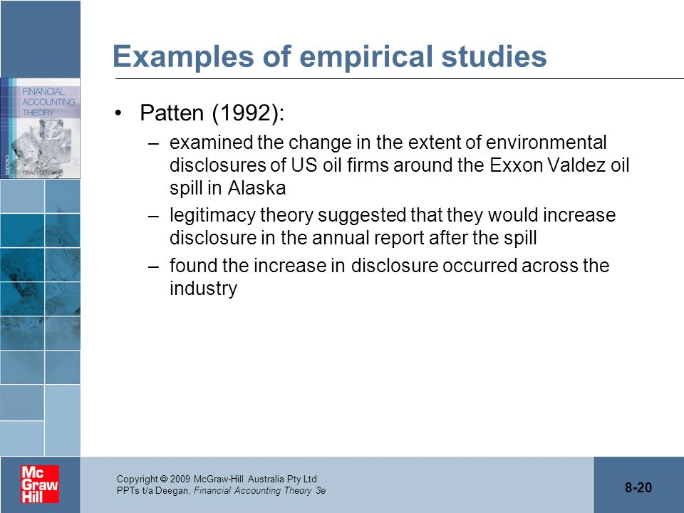 Examples of empirical studies