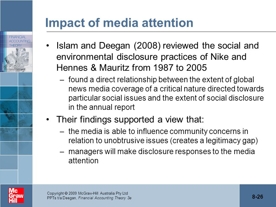 Impact of media attention