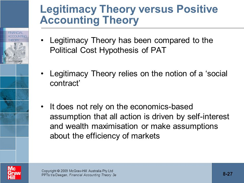 positive accounting theory and banking Deegan fat4e ppt_ch07 financial accounting theory 4e financial accounting theory craig deegan slides written by craig deegan chapter 7 positive accounting theory - leverage covenants frequently used in bank loan contracts - leverage most frequently measured as.