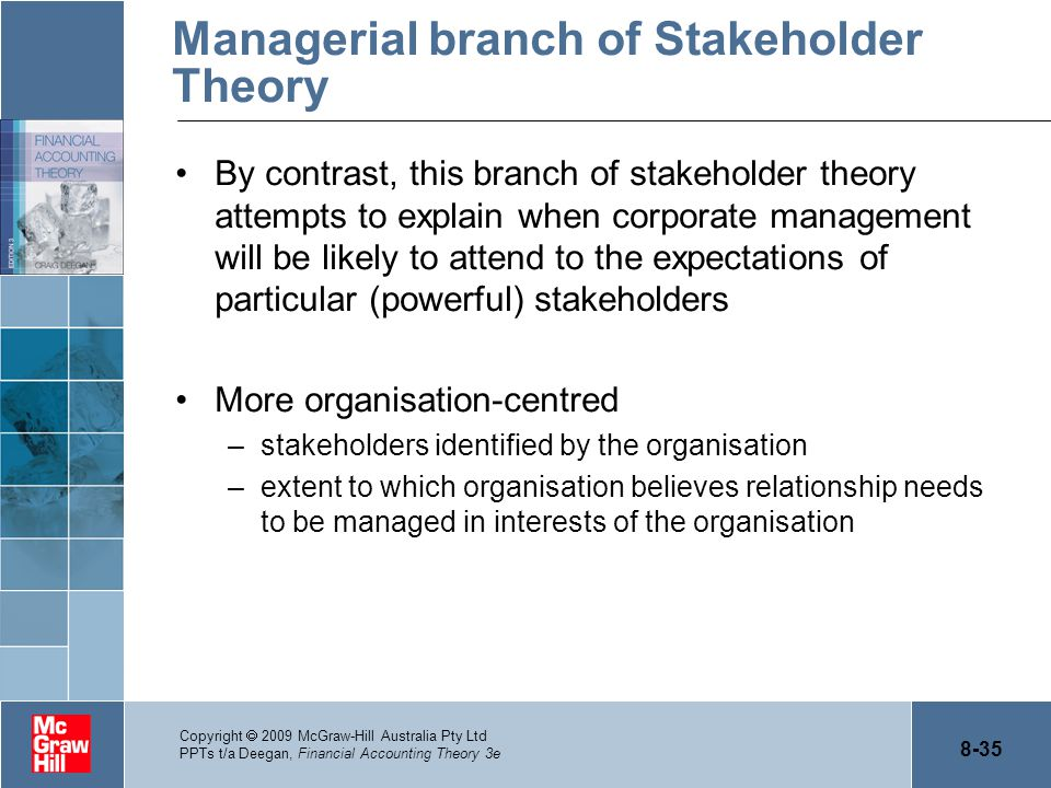 Managerial branch of Stakeholder Theory