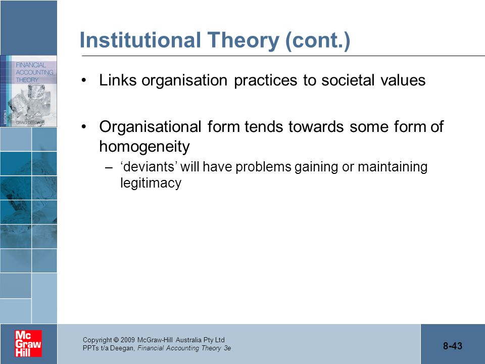 Institutional Theory (cont.)