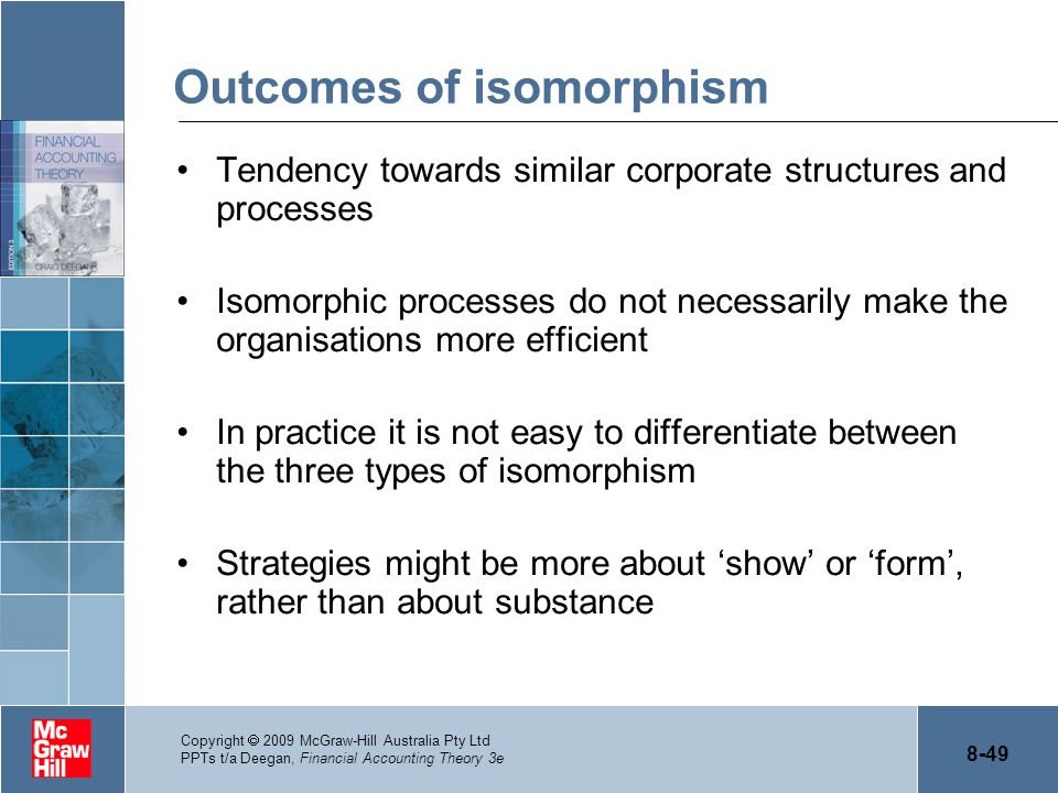 Outcomes of isomorphism