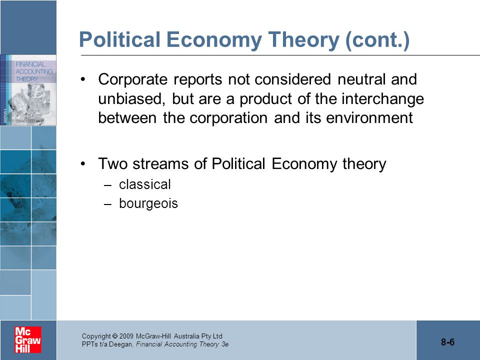 Political Economy Theory (cont.)