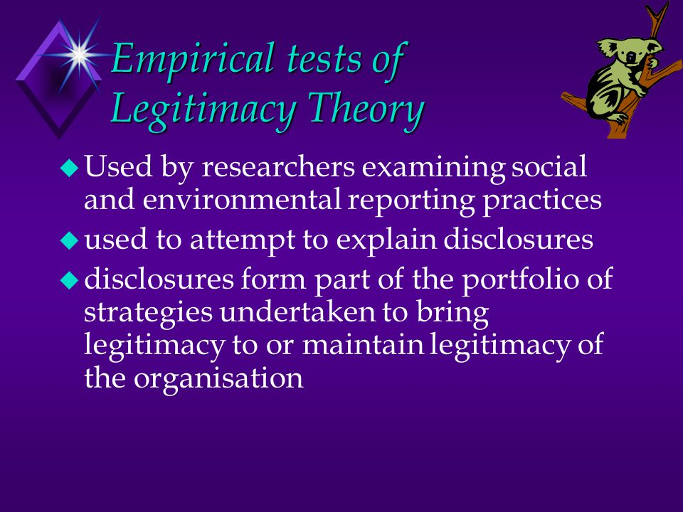 Empirical tests of Legitimacy Theory