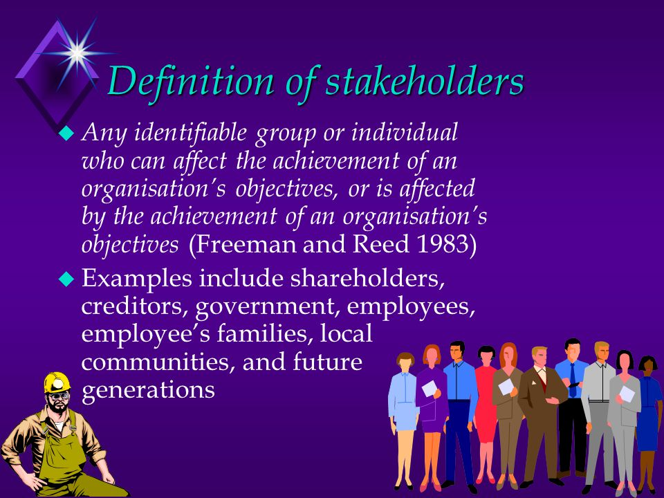 Definition of stakeholders
