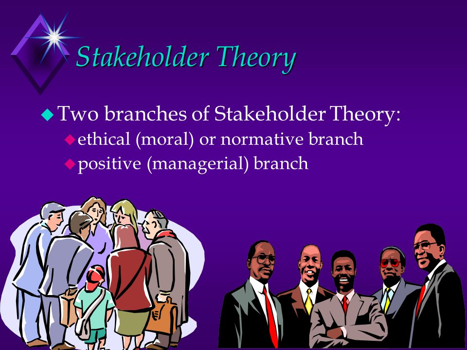 Stakeholder Theory Two branches of Stakeholder Theory: