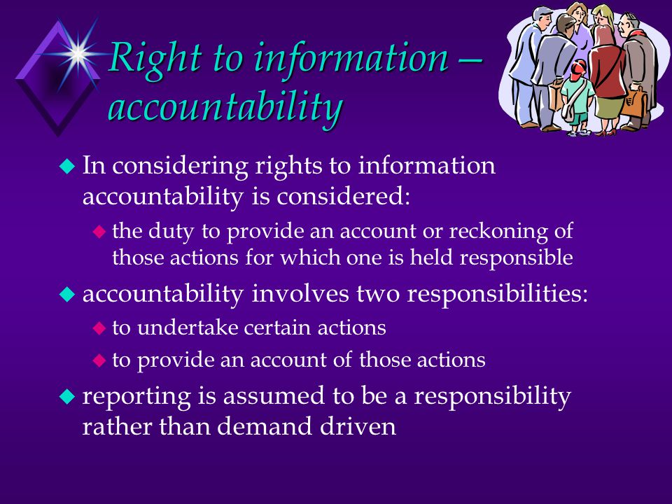Right to information— accountability