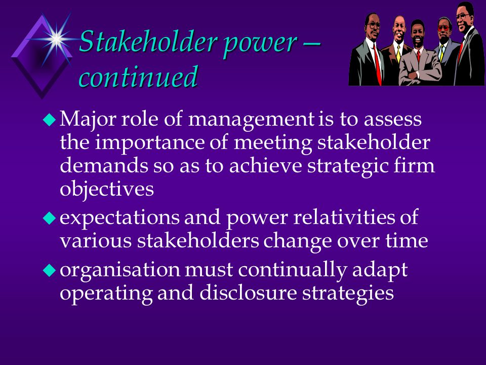 Stakeholder power—continued