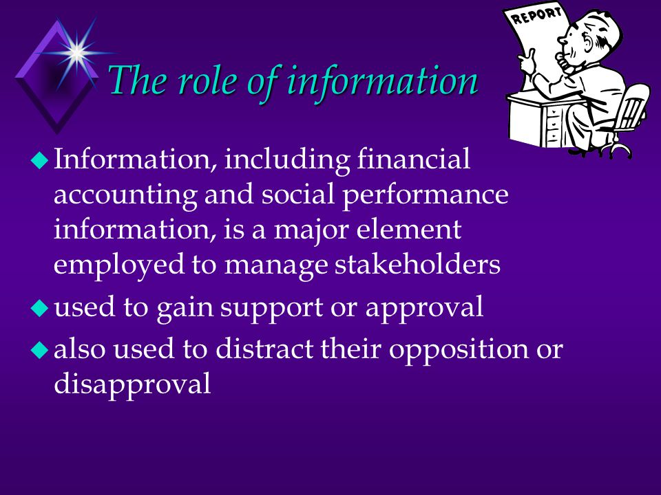 The role of information
