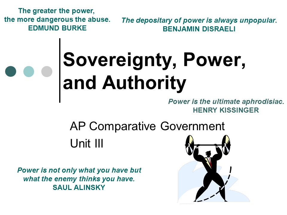 Sovereignty, Power, and Authority
