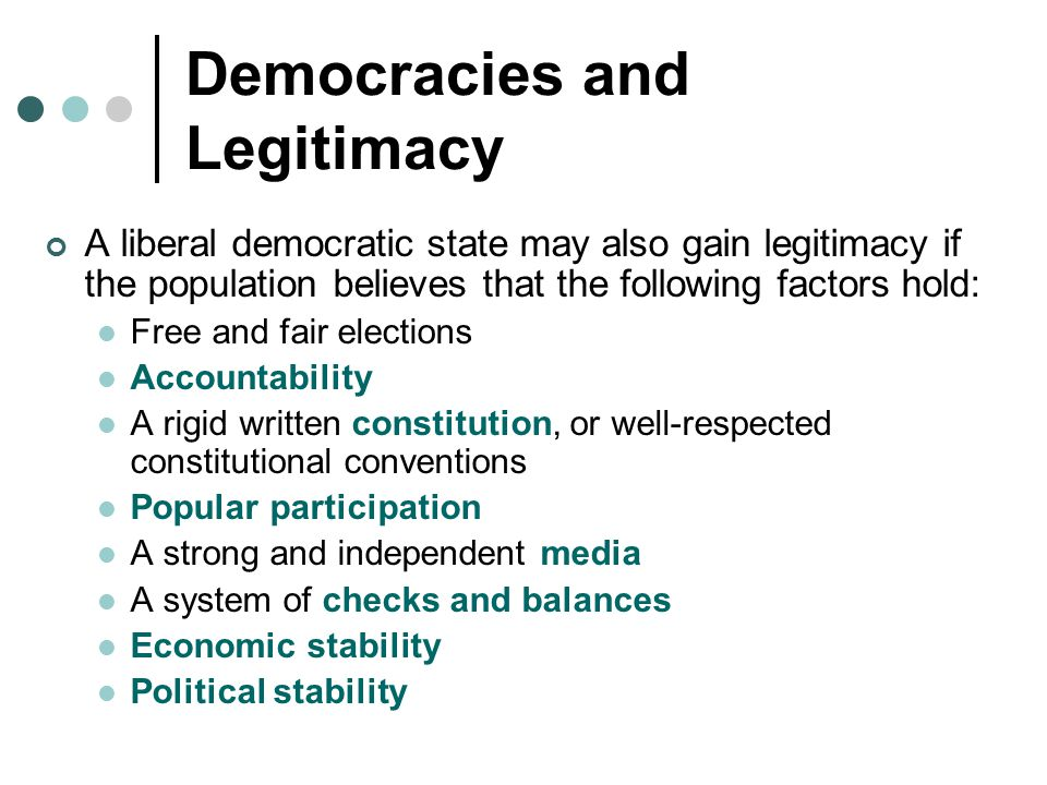 Democracies and Legitimacy