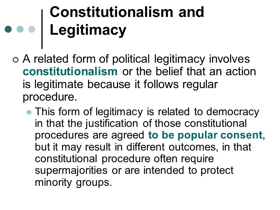 Constitutionalism and Legitimacy