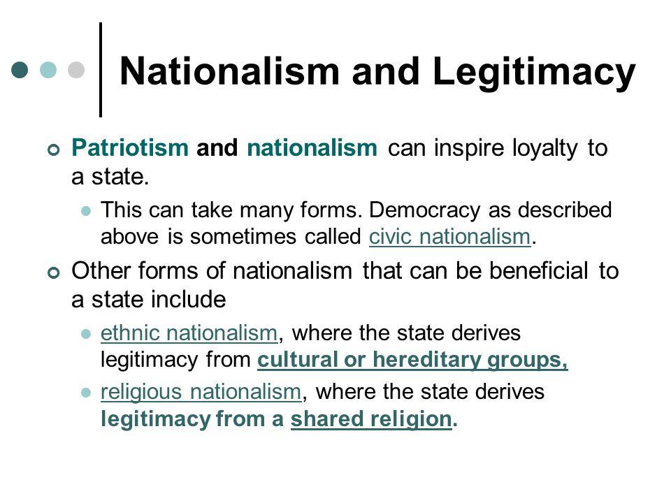 Nationalism and Legitimacy