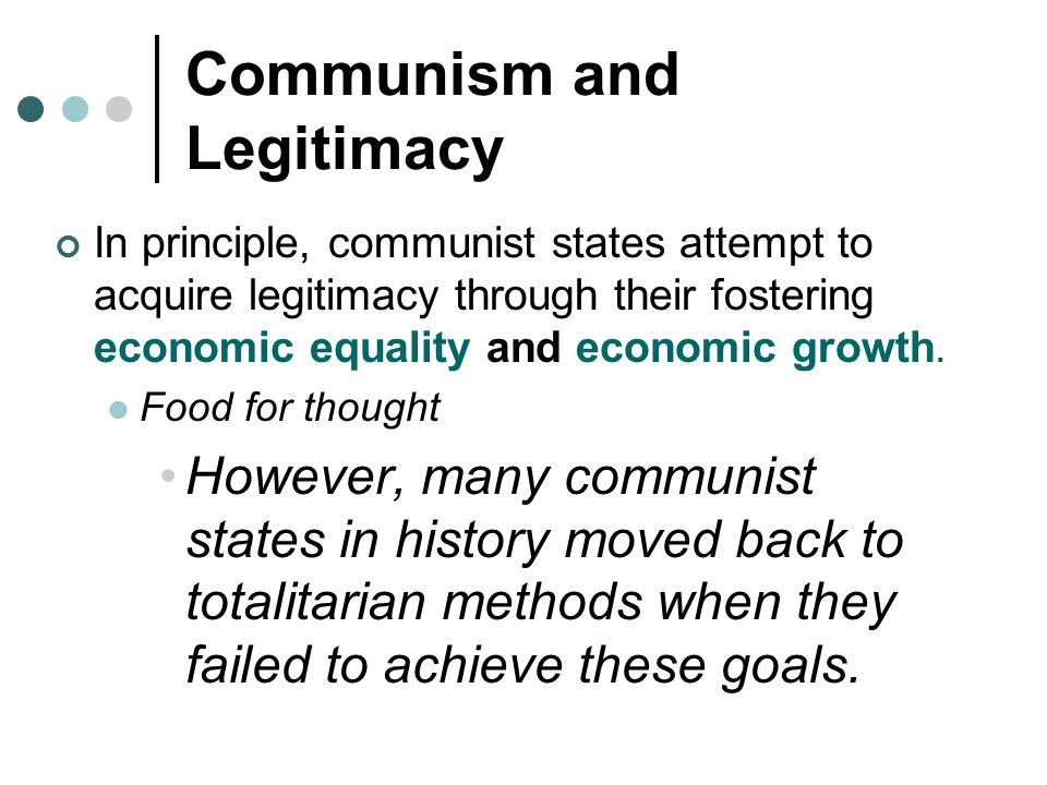 Communism and Legitimacy