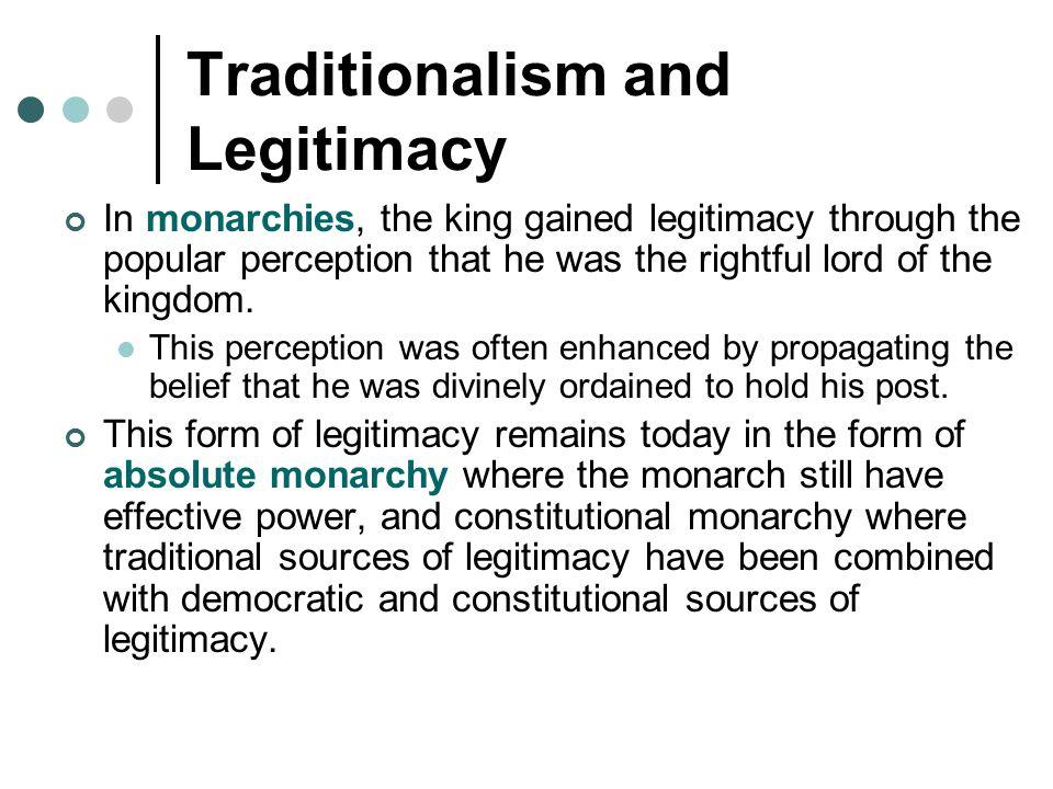 Traditionalism and Legitimacy