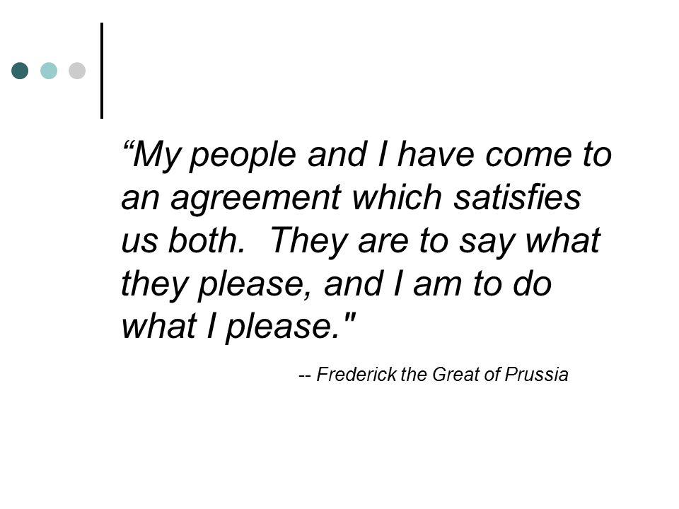 My people and I have come to an agreement which satisfies us both