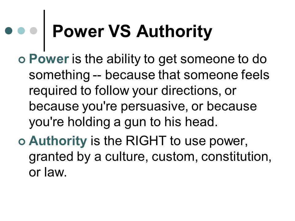 Power VS Authority