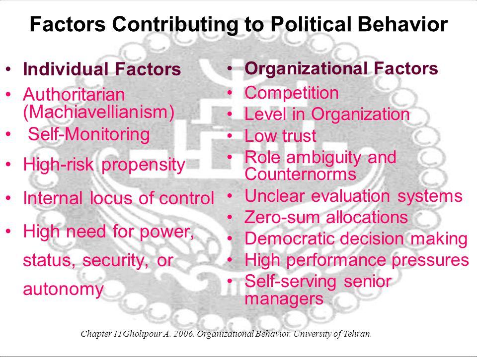 Factors Contributing to Political Behavior