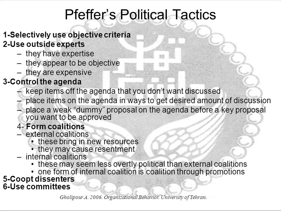Pfeffer's Political Tactics