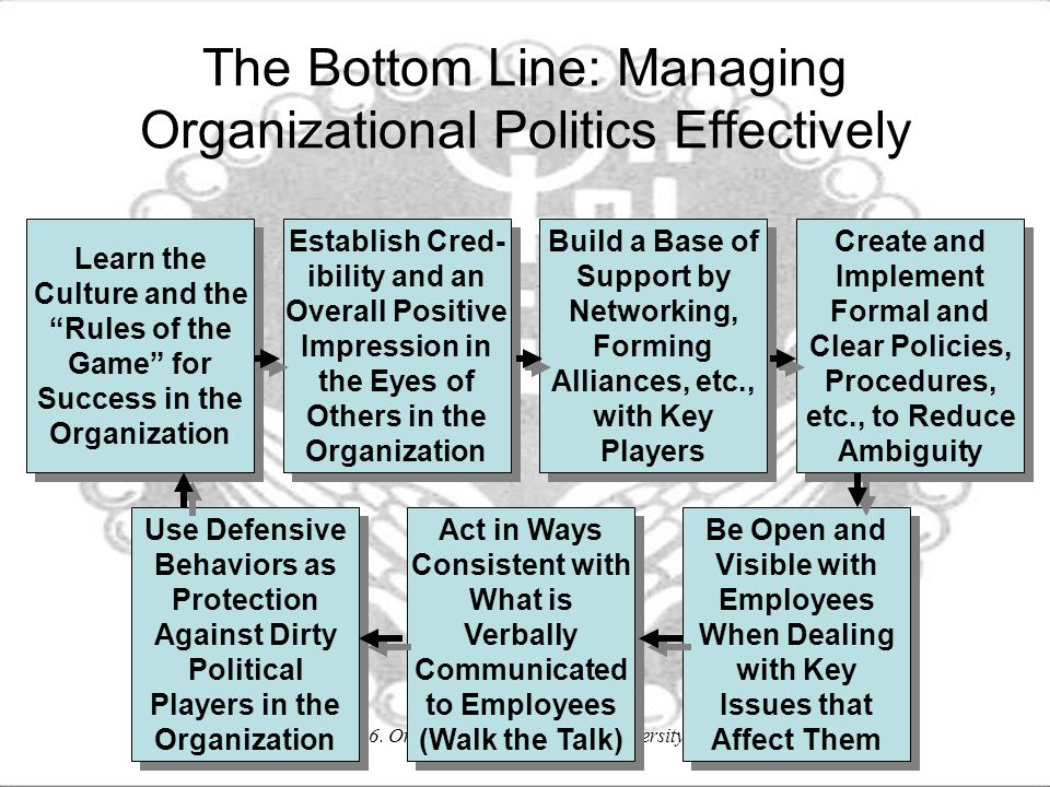 The Bottom Line: Managing Organizational Politics Effectively