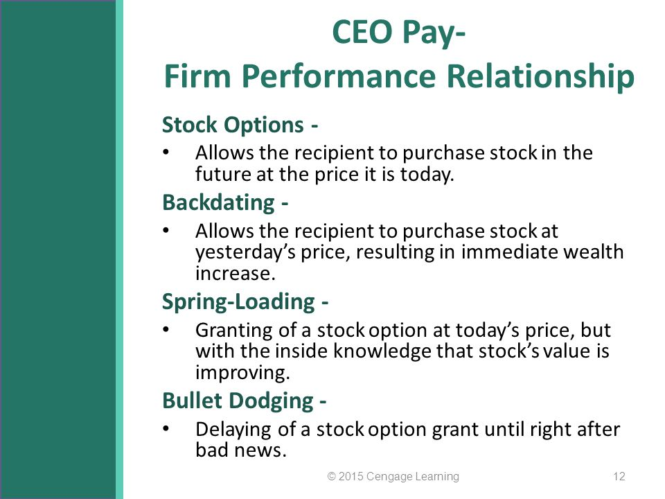 CEO Pay- Firm Performance Relationship