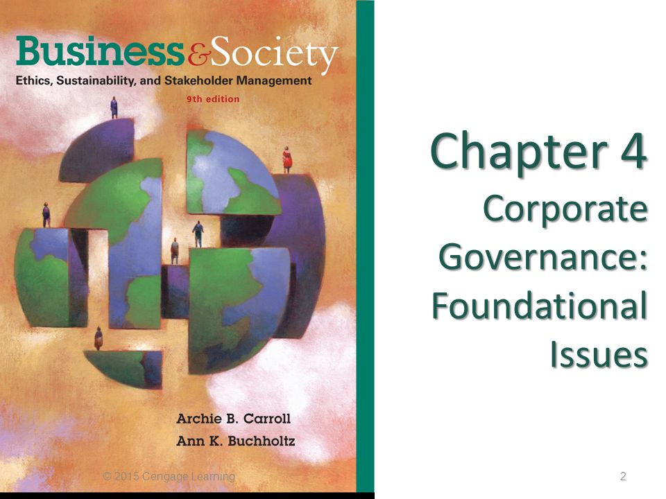 Chapter 4 Corporate Governance: Foundational Issues