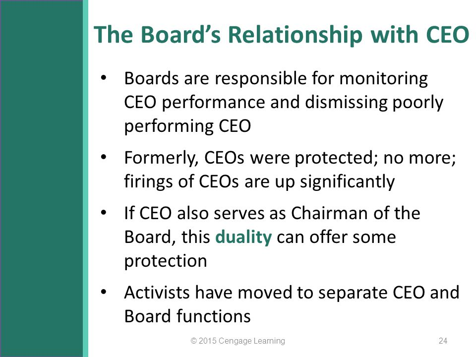 The Board's Relationship with CEO