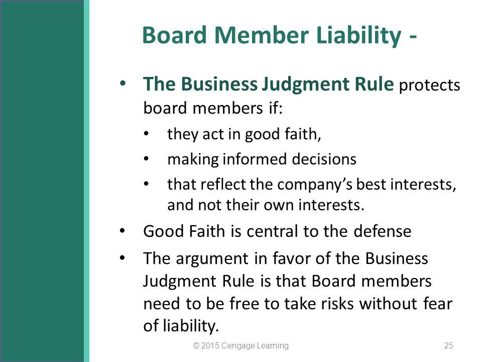 Board Member Liability -