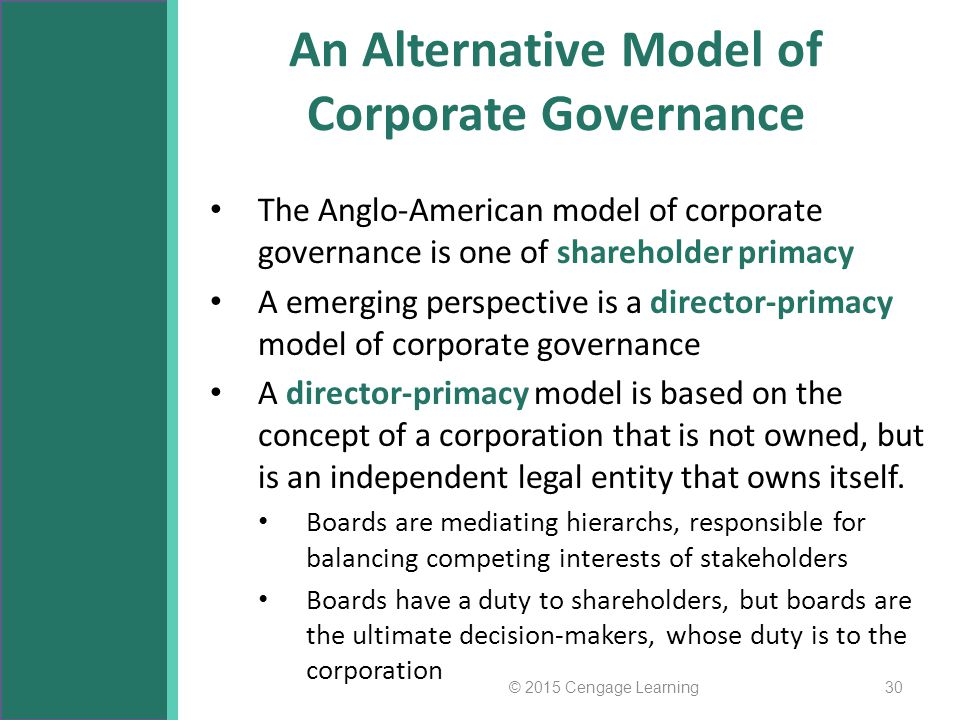 An Alternative Model of Corporate Governance