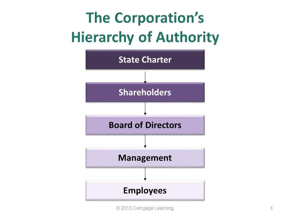 The Corporation's Hierarchy of Authority