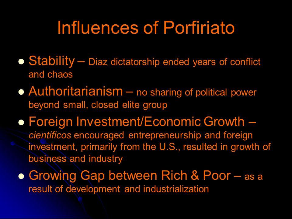 Influences of Porfiriato