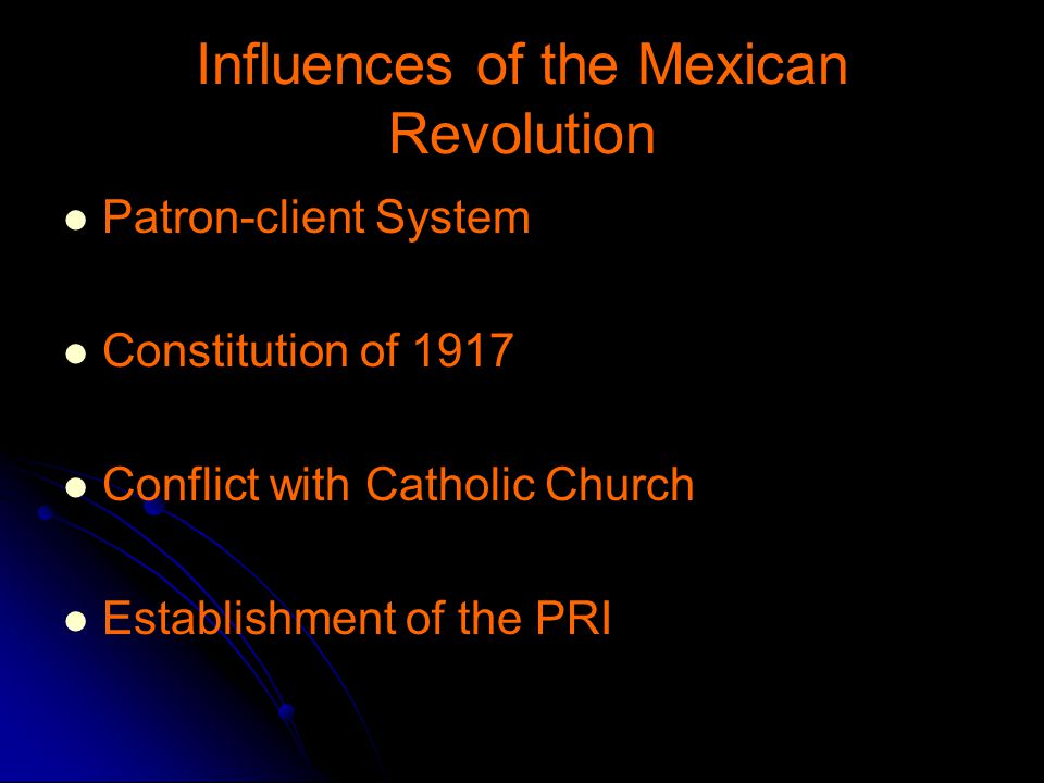 Influences of the Mexican Revolution