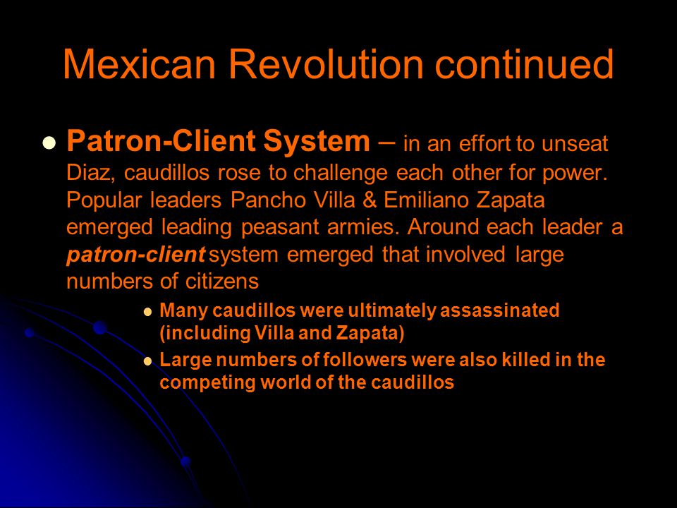 Mexican Revolution continued