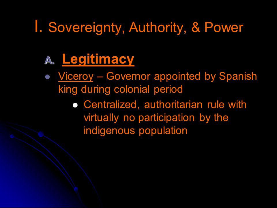 I. Sovereignty, Authority, & Power