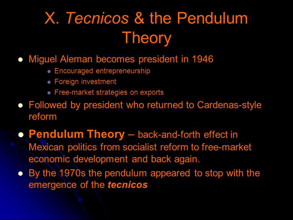 X. Tecnicos & the Pendulum Theory