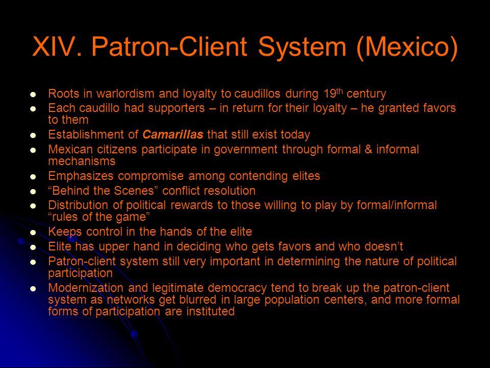 XIV. Patron-Client System (Mexico)