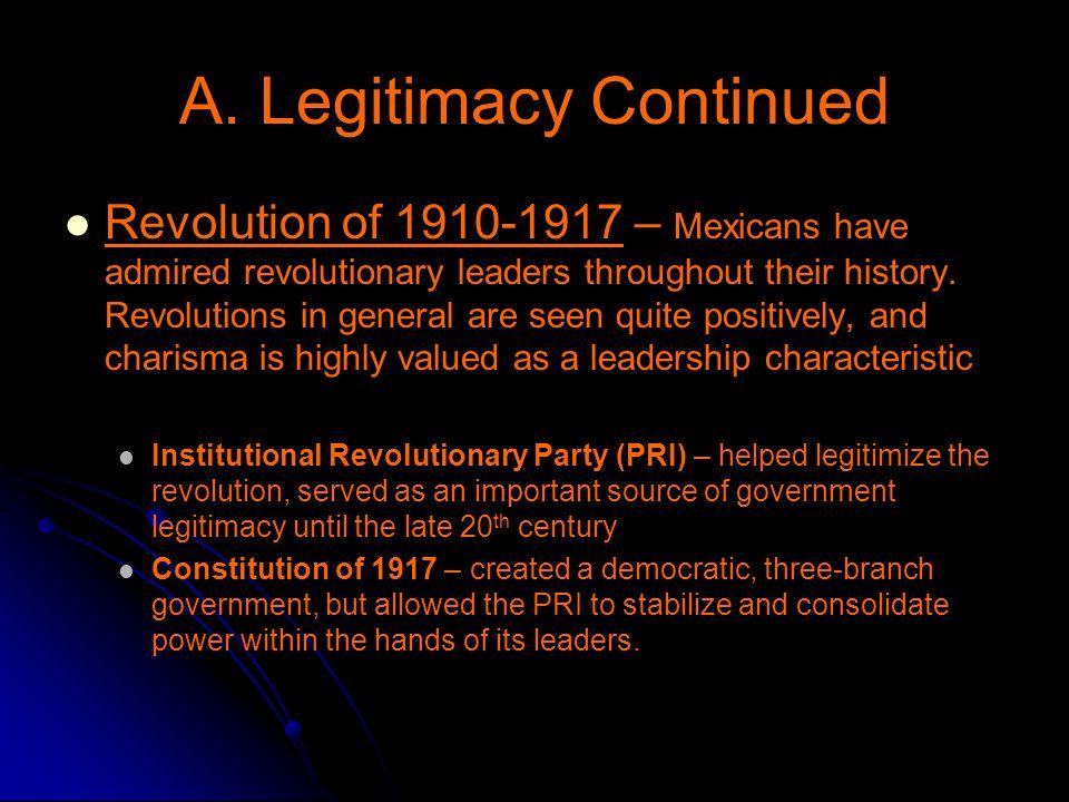 A. Legitimacy Continued