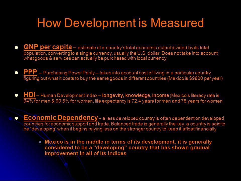 How Development is Measured