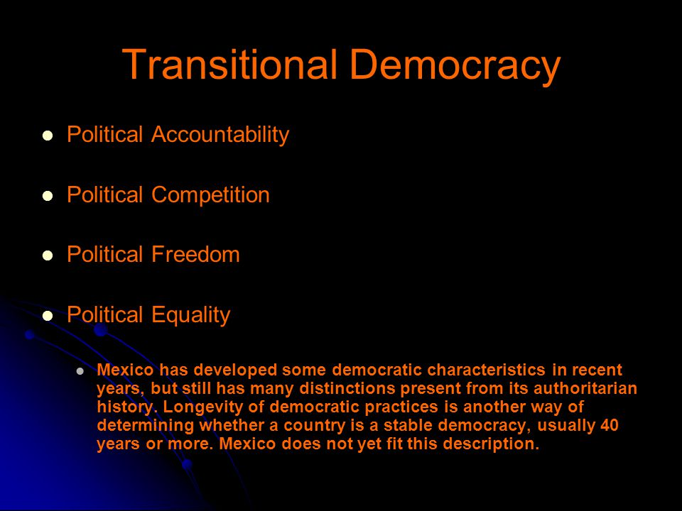 Transitional Democracy