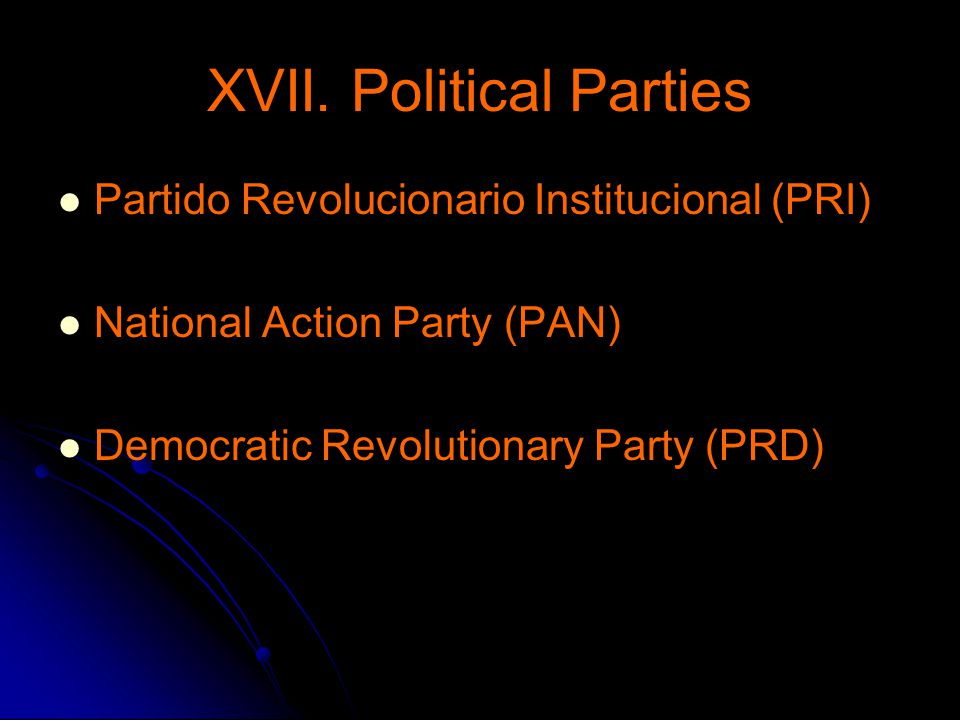 XVII. Political Parties