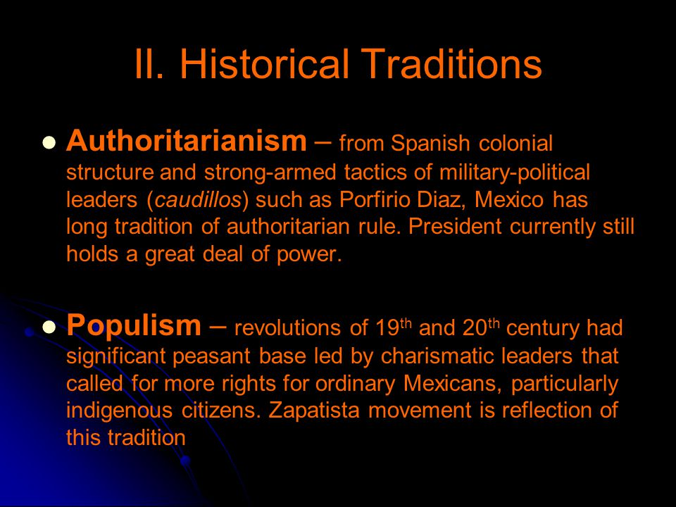 II. Historical Traditions