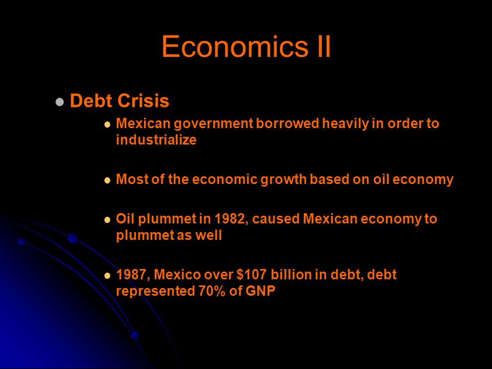 Economics II Debt Crisis