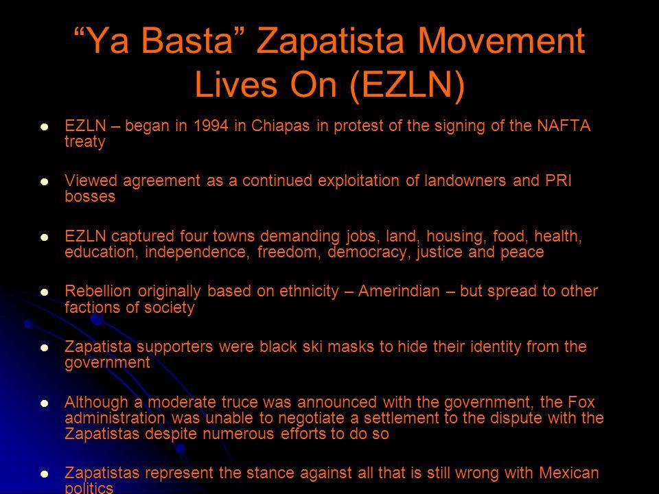 Ya Basta Zapatista Movement Lives On (EZLN)