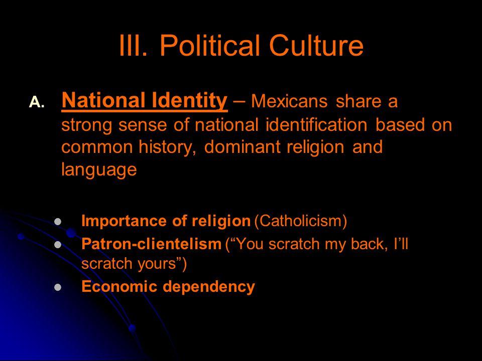 III. Political Culture